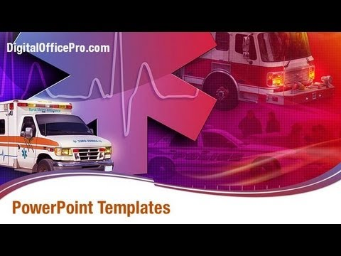 Medical Ambulance PowerPoint Template Backgrounds - DigitalOfficePro