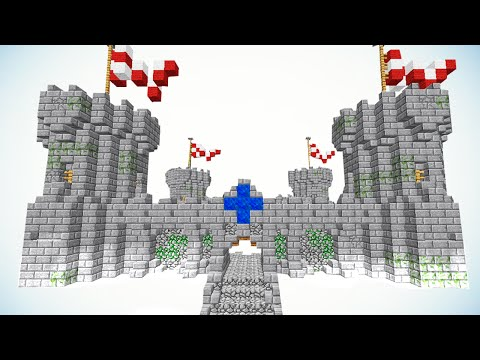Как построить Замок в Minecraft - ЧАСТЬ 1 - [Средневековье]
