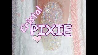 Como aplicar cristal PIXIE paso a paso/  Pixie Crystals Nails step by step