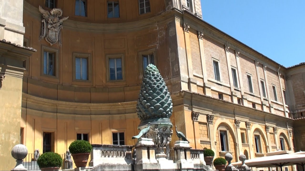 Musei Vaticani Cortile Della Pigna Youtube
