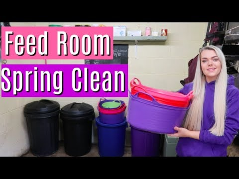 Feed Room Cleaning & Organisation | Spring Clean | Lilpetchannel