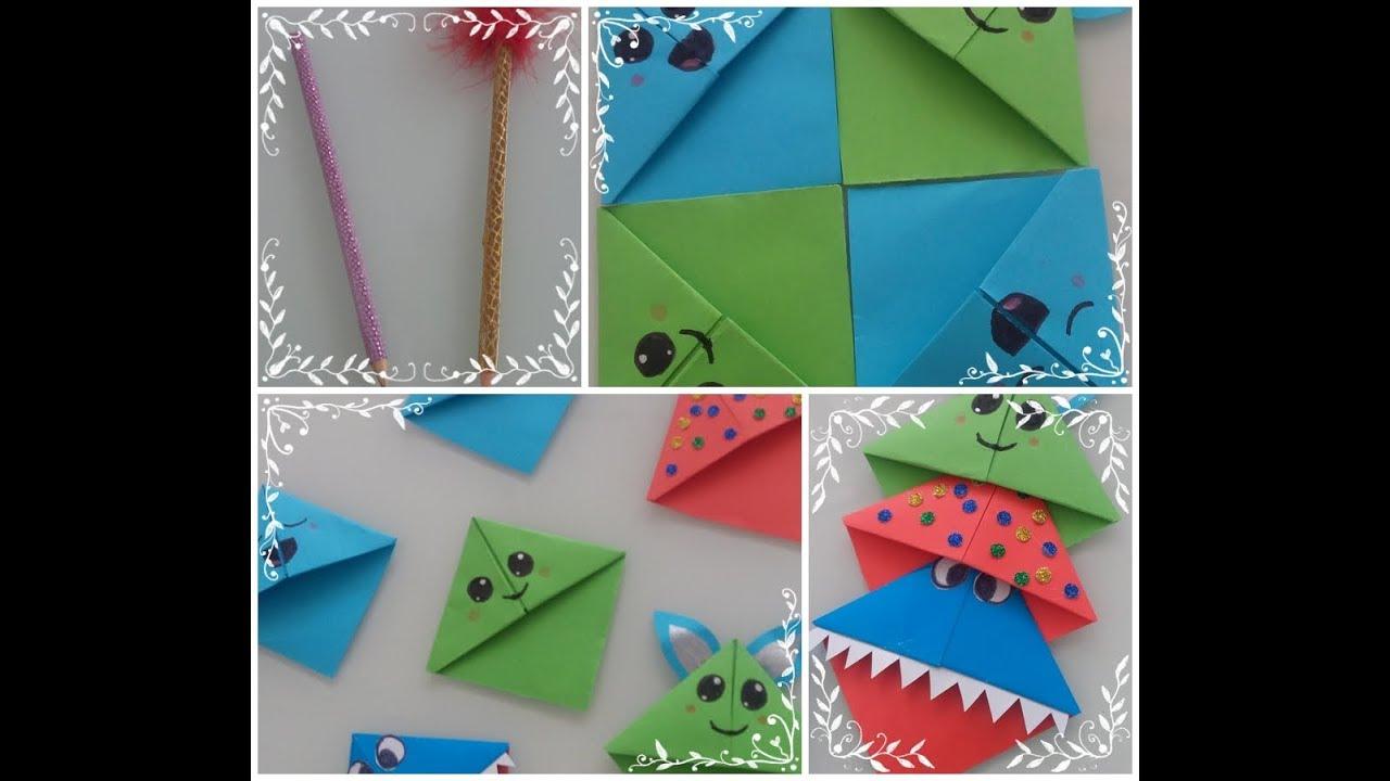 6 Cesit Origami Kitap Ayraci Kalem Susleme Toka Ve Igne Boyama