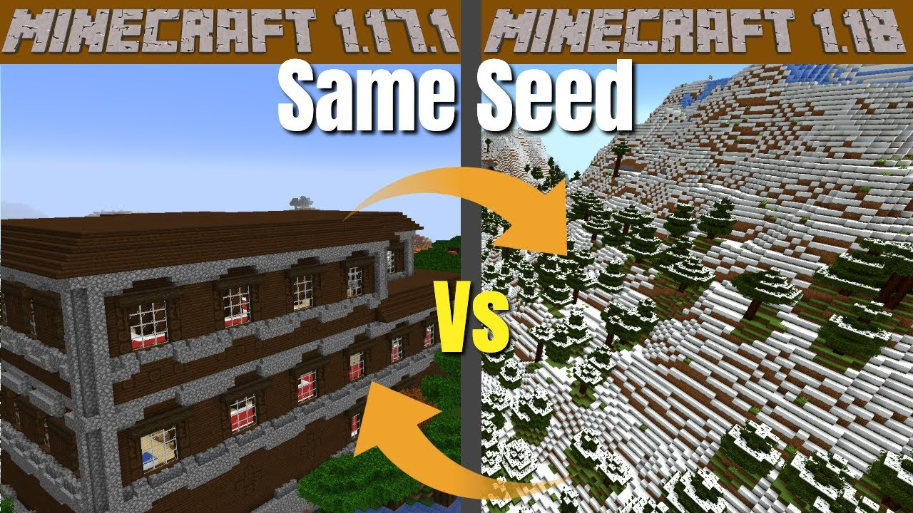 Minecraft 1.18 vs Minecraft 1.17   Are we starting again with all our seeds? An Experiment!