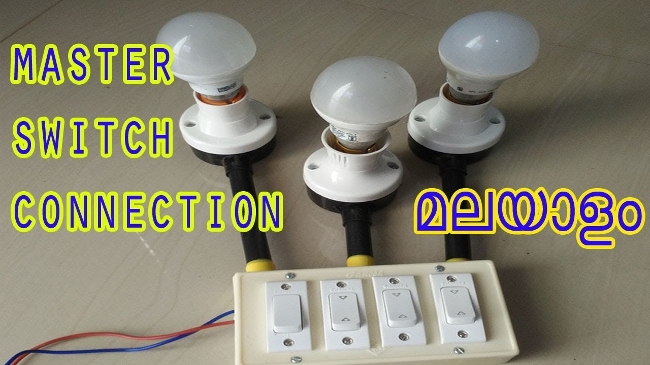 medium resolution of how to connect a master switch in house wiring malayalam