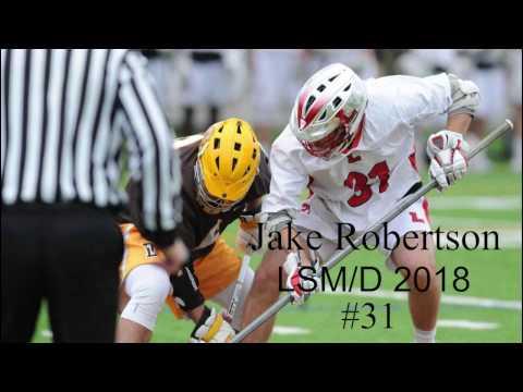 Jake Robertson 2018 LSM/D 2017 Lawrenceville High School Lacrosse Highlights Spring Mid Season