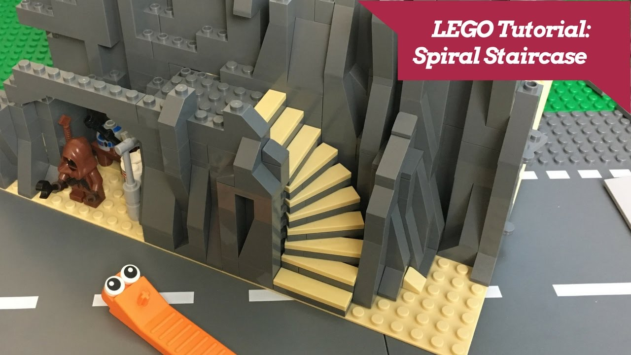 LEGO Tutorial   How To Build A Spiral Staircase