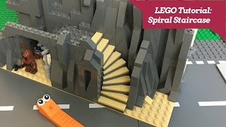 LEGO Tutorial - How to Build a Spiral Staircase