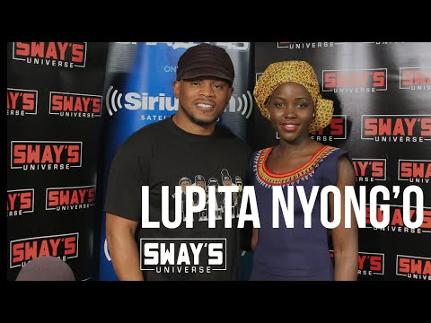 : Lupita Nyong'o  with Sway in the Morning