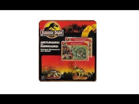Jurassic Park Die Cast Ankylosaurus and Hadrosaur