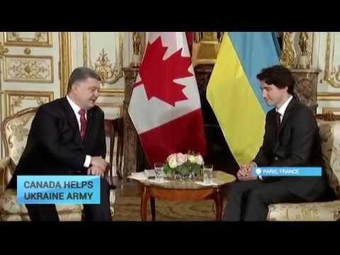 Canada Helps Ukraine's Army:  PM Trudeau and President Poroshenko met in Paris