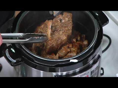 Power Pressure Cooker XL Digital 8 qt. Pressure Cooker w/ Dual Racks on QVC