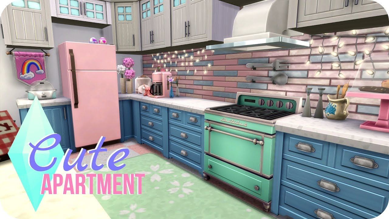 Sims 4 Speed Build | Cute Tumblr Apartment