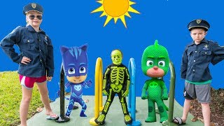 PJ Masks and Vampirina Hunt with the Assistant and Batboy Ryan and spooky Skeleton