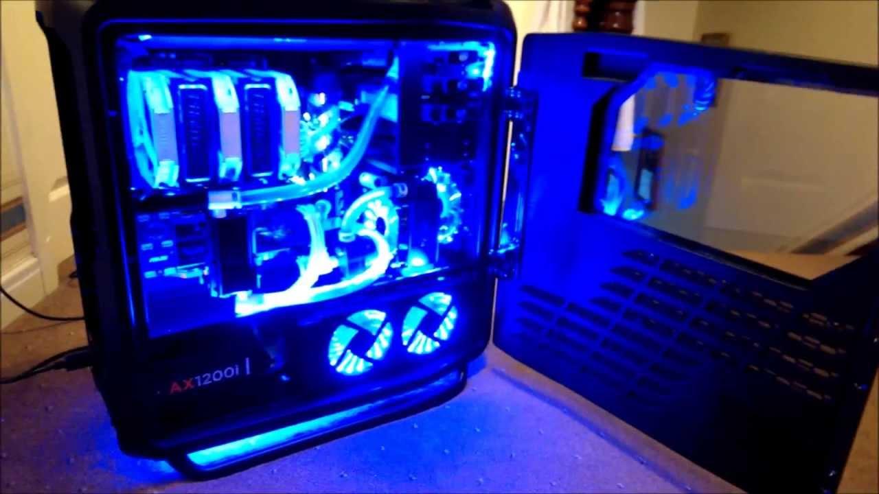 Custom Watercooled Cosmos 2 Frozenq Res Window Mod Youtube