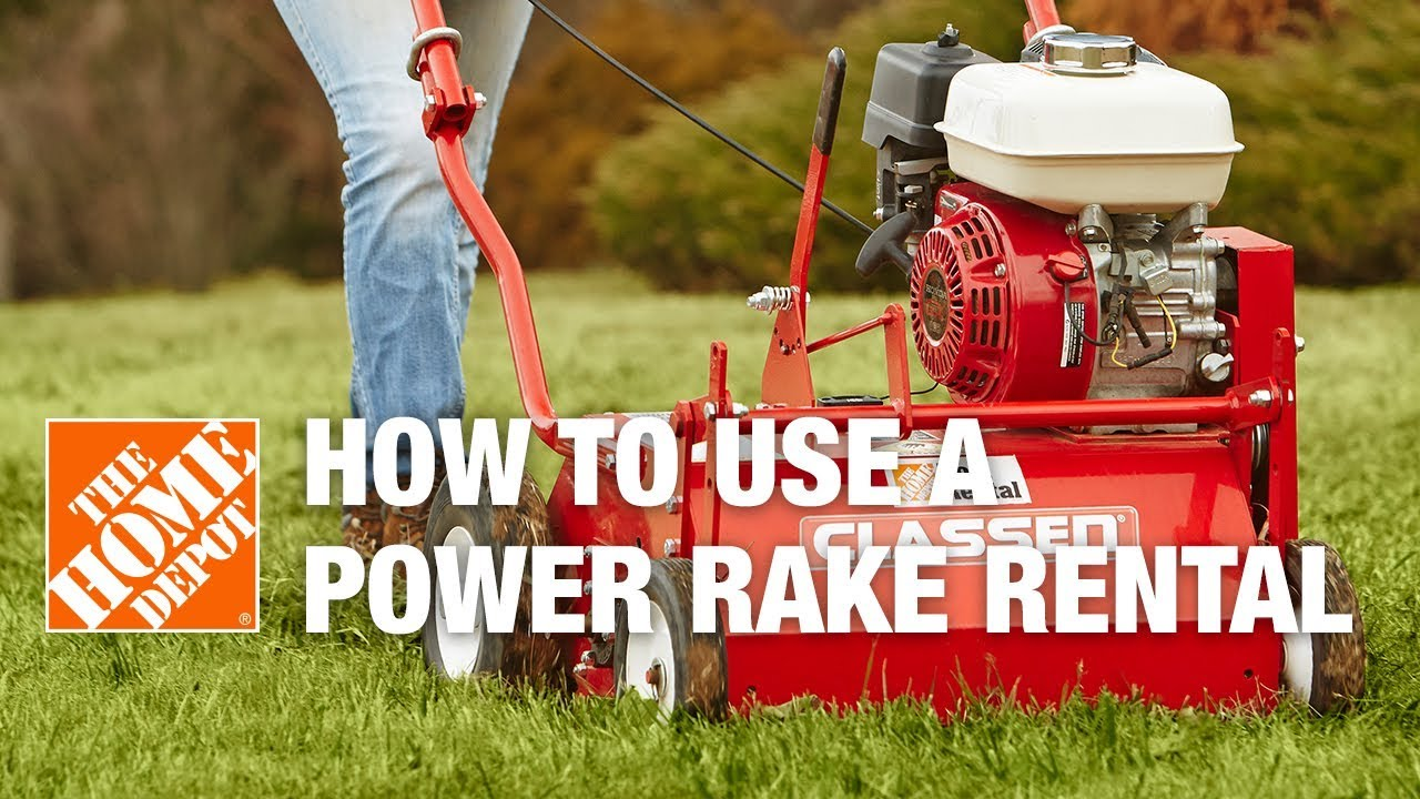 Power Rake With Catcher. How To Use A Classen Power Rake Rental Youtube