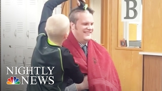 Inspiring America: Principal Shaves Head For Bullied Student With Sick Grandpa | NBC Nightly News