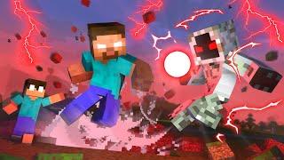 Monster School :  HEROBRINE FAMILY VS ENTITY 303 ATTACK APOCALYPSE - Minecraft Animation