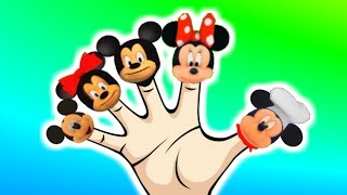Finger Family Mickey Mouse & Minnie Mouse I Kids Songs and Nursery Rhymes