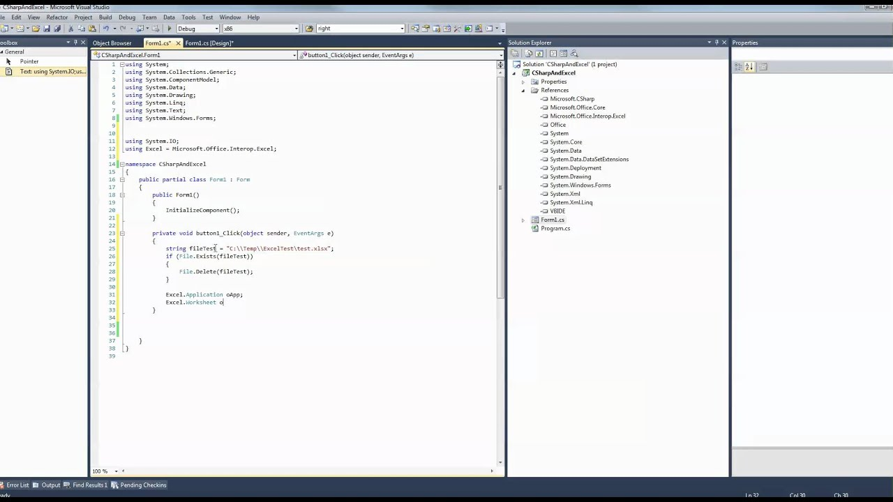 C# - Excel - How to create simple Excel file programmatically ...