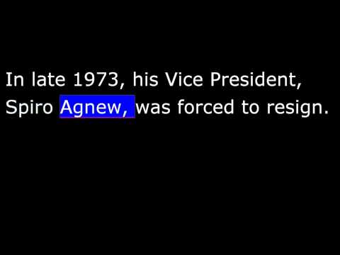 American History - Part 212 - Nixon - Watergate Scandal - Nixon Resigns - Ford President