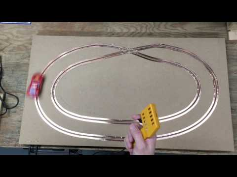 Test slot car routed track