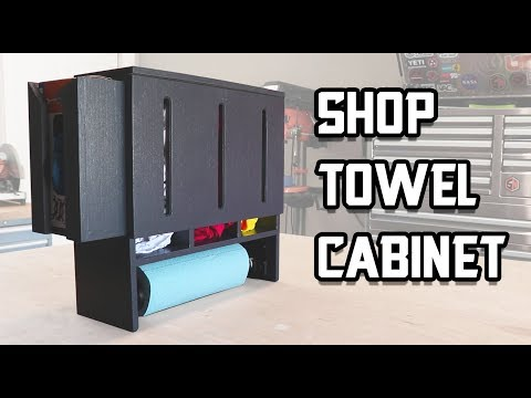 Build Your Own Shop Towel Cabinet!
