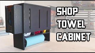 DIY Shop Towel Cabinet Build // Shop Organization