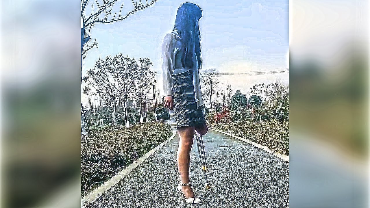 Women Amputee On Crutches | amputee women crutching video