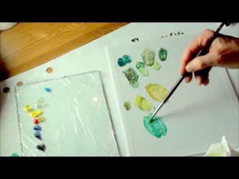 Tipps Für Die Acrylmalerei 4 Grüntöne Mischen Youtube