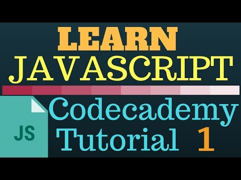 Codecademy Learn Javascript - 1 - Walkthrough Tutorial