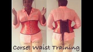 4a565fc6fe4 How to Hide Corset Laces - Corset Waist Training for Plus Size Day 4 -  YouTube