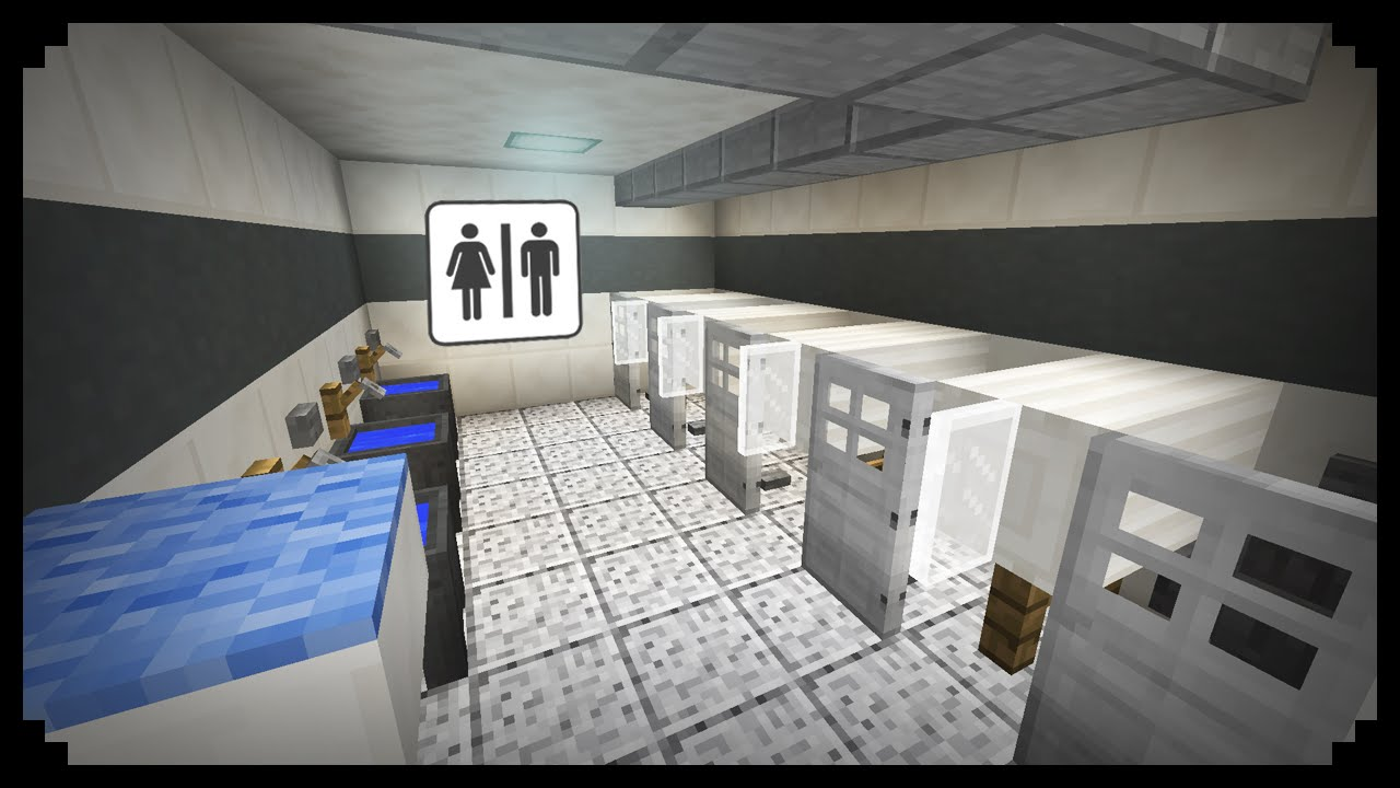Minecraft how to make a public restroom youtube for Bathroom designs minecraft
