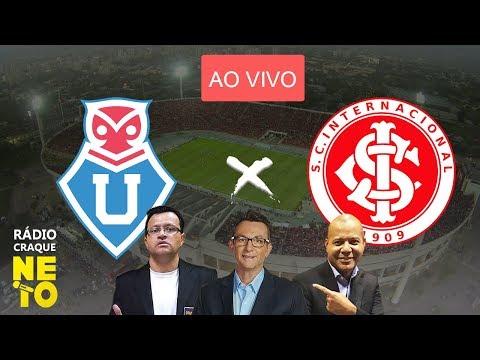 Universidad do Chile (CHI) x Internacional com PRAETZEL | AO VIVO | Rádio Craque Neto - Libertadores