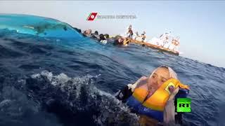 لقطات دراماتيكية لإنقاذ مهاجرين في البحر الأبيض المتوسط
