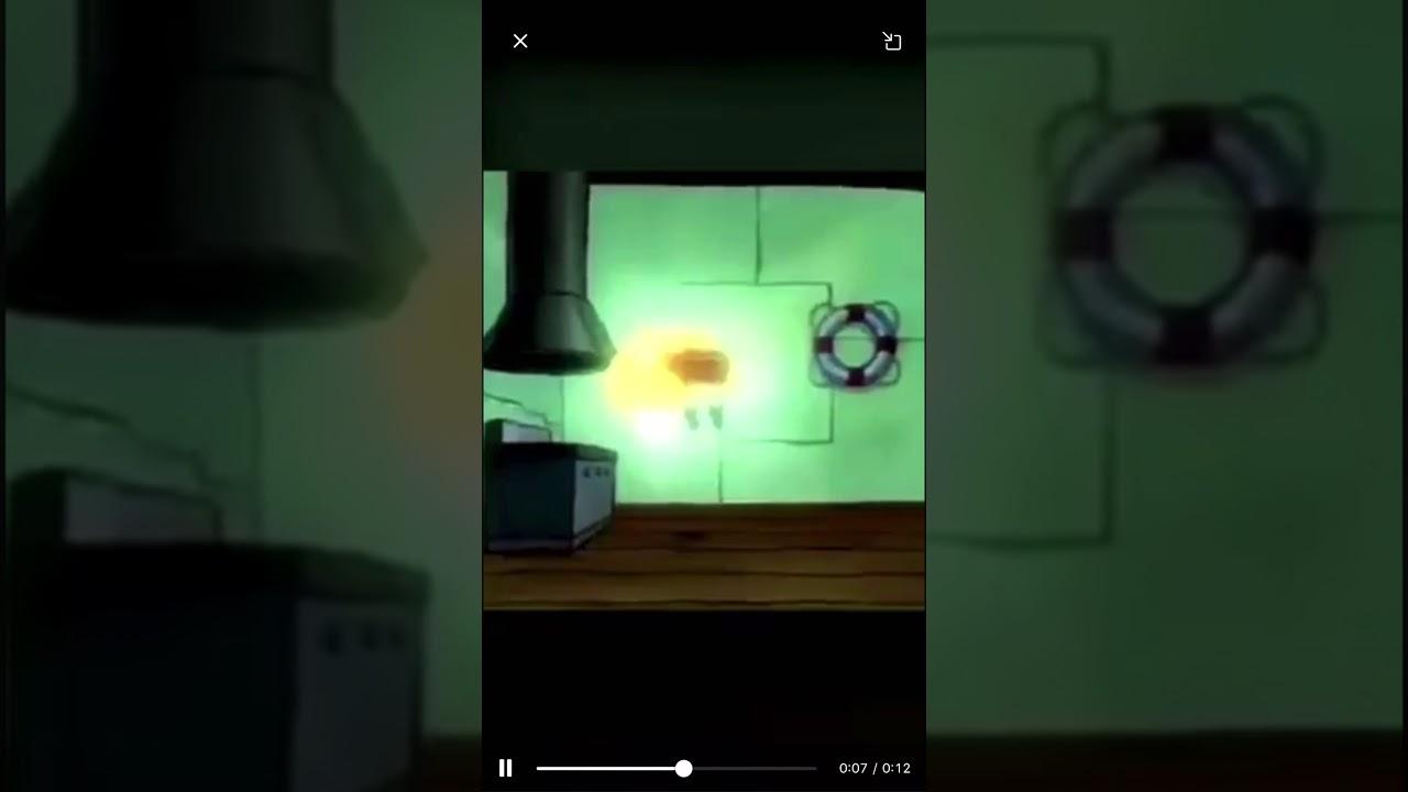 spongebob floating meme - YouTube