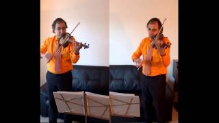 Babak Sabetian Plays 4 duets on Delodel (Persian Violin)