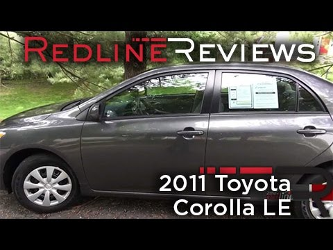 2011 Toyota Corolla LE Walkaround, Review and Test Drive