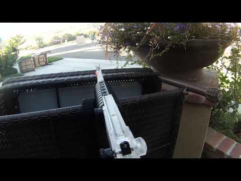 Backyard Airsoft War with friends