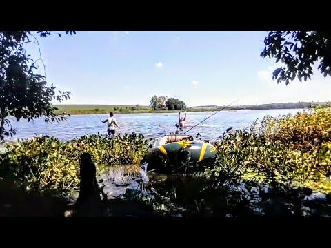 AH VOLTA ... Pescaria Bote Inflável  Nos Jambolão Em Iacanga 1°parte