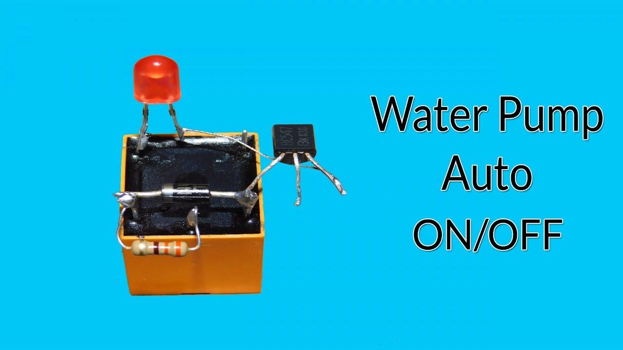 Water Pump Auto On Off Circuit Very Easy Youtube Bc548 Heat Sensor