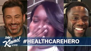 Jimmy Kimmel & Kevin Hart Surprise Nurse from Philly