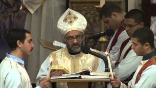 Repeat youtube video Feast of the Nativity Liturgy 2014- Father Barsoum Shaker and Father Kyrillos Said