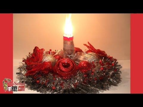 Centro de mesa con adornos navide os doovi - Adornos de mesa navidenos ...