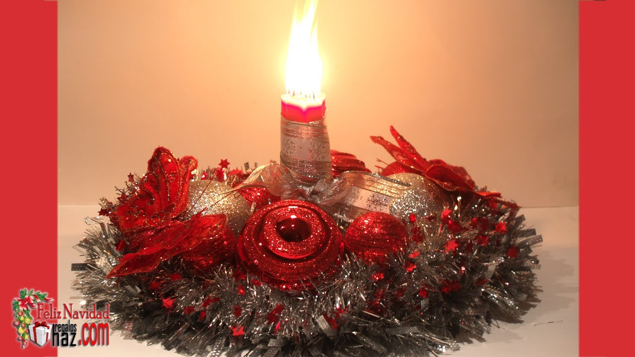 Centro de mesa navideo reciclado DIY Recycled christmas