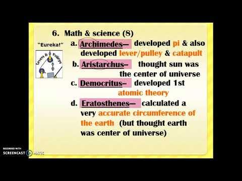 Greek Mathematicians & Scientists