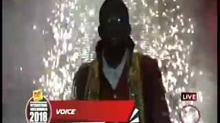 Aaron 'Voice' St Louis secured his third consecutive Soca Monarch w...