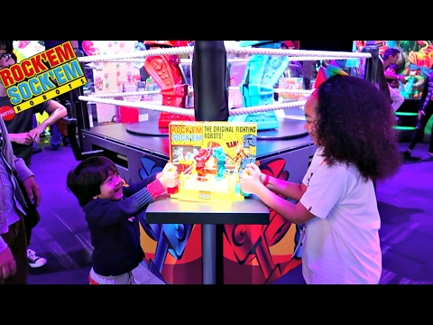 Thumbnail: Rock'Em Shock'Em Fighting Robots Toy Challenge Game - Family Fun - Surprise Toys For Kids