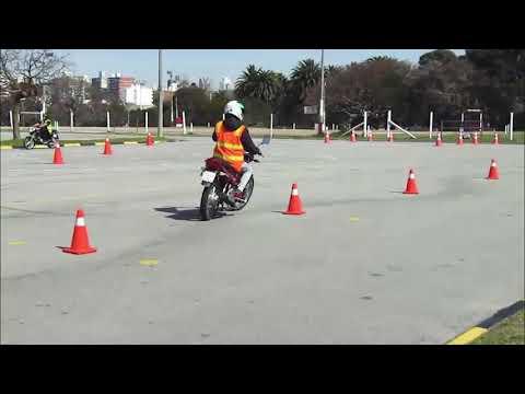 Exámen práctico para moto, Categoría G2 . (Montevideo, Uruguay)