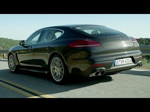 NEW 2014 Porsche Panamera 4S on the road