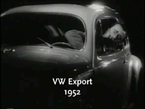 classic 1952 vw beetle commercial